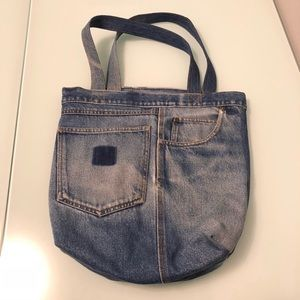 Handbags - Upcycled Denim Jean Tote / Hand Bag